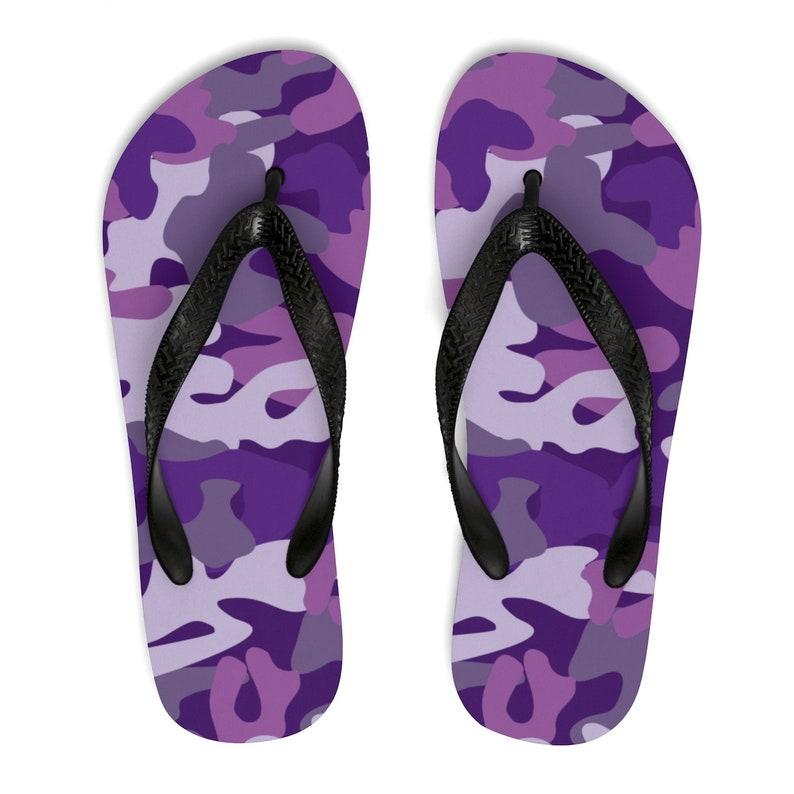 d3dbe75d6a33 Purple Camo Flip Flops Camouflage Flip Flops Camouflage