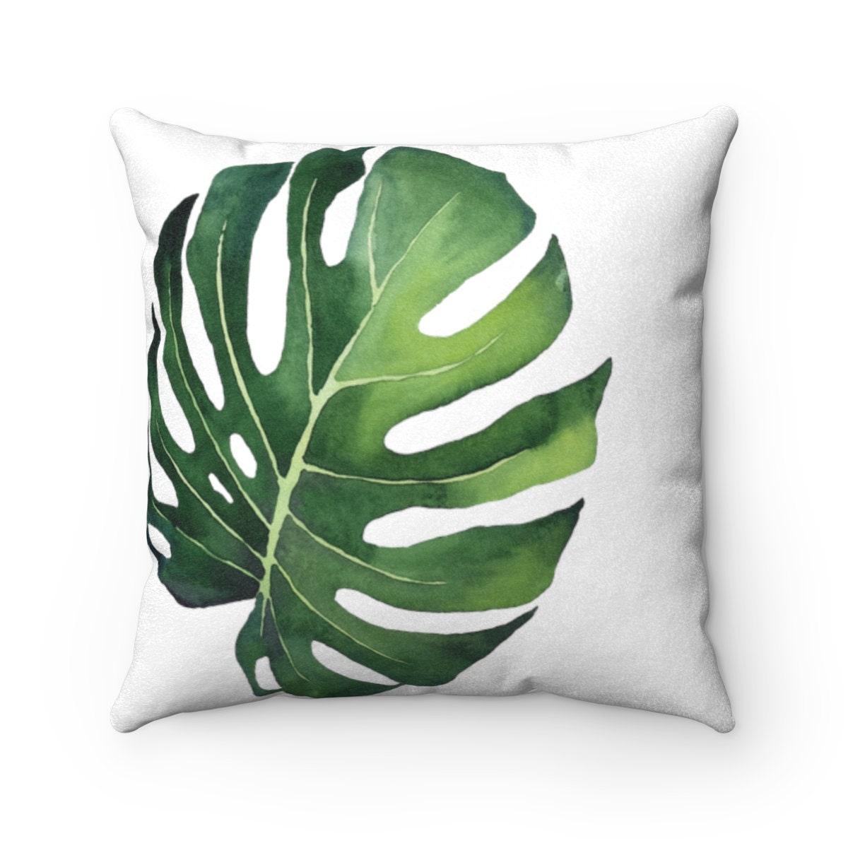 Monstera Palm Leaf Pillow Cover Tropical Monstera Leaf Print   Etsy