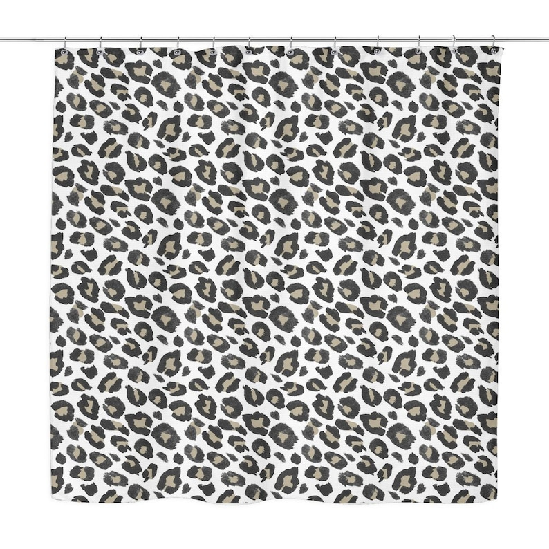 Leopard Print Shower Curtain 70 X Tan Black