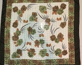 Free shipping Zambak silk scarf