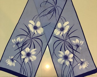 Free shipping floral scarves made in italy