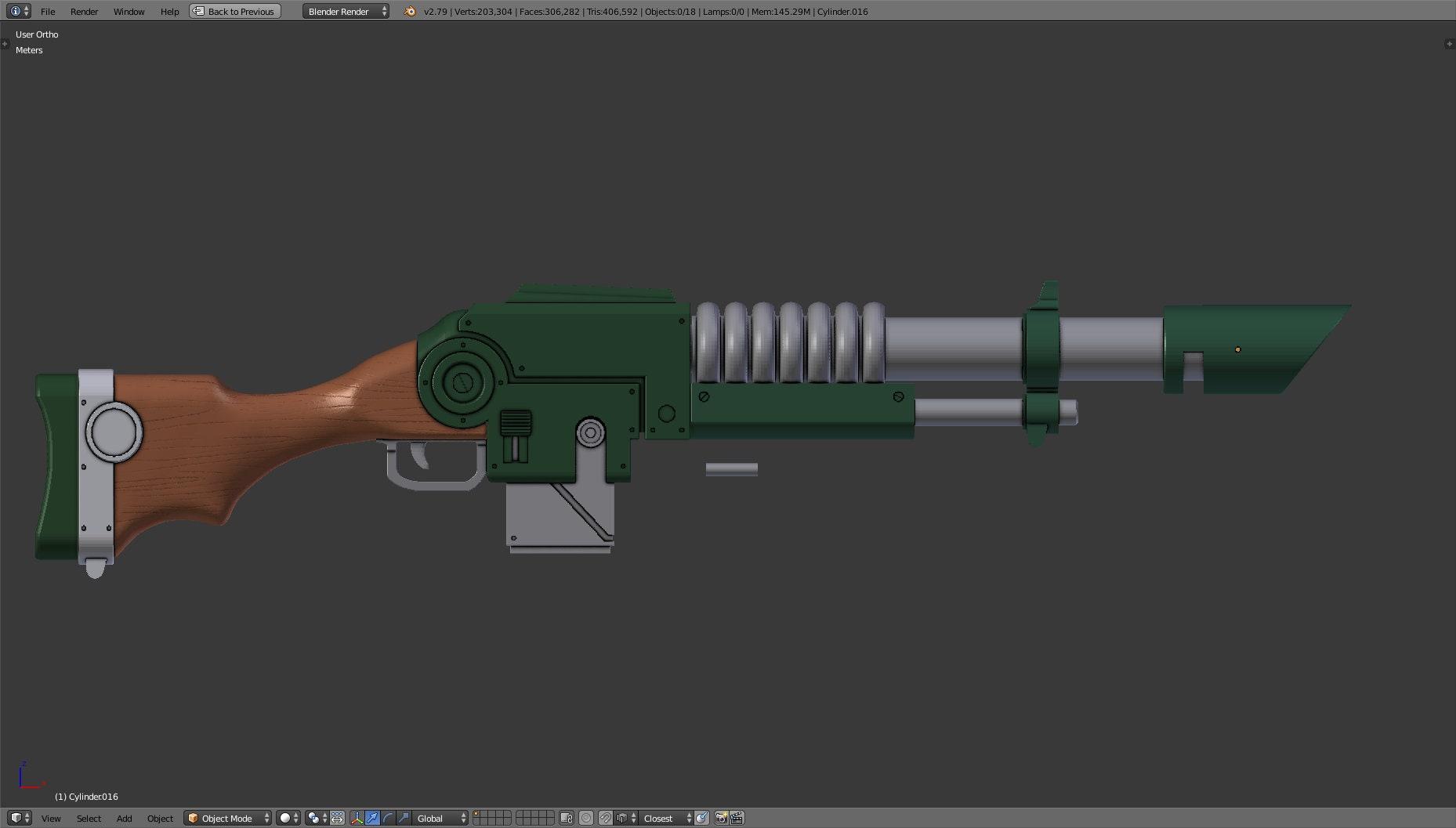 3D printed Lasrifle kit  Lucius model 40K