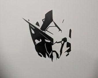 Gundam Head Decal