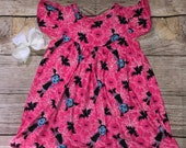 Vamparina Dress Flutter Sleeve Halloween Pink Blue Black