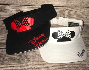 Disney-Inspired Sun Visors Mickey Mouse Minnie Mouse White Black a5de26152f3