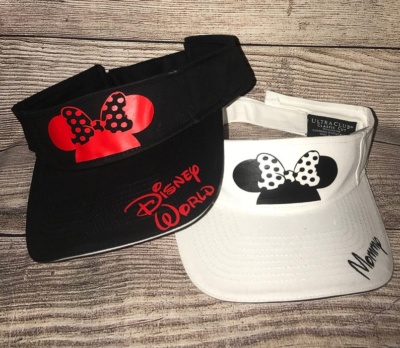 fdf8f23f Disney-Inspired Sun Visors Mickey Mouse Minnie Mouse White | Etsy