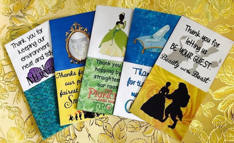 picture regarding Disney Printable Envelopes named Disney Princess Mousekeeping Envelopes 5 pack Printable