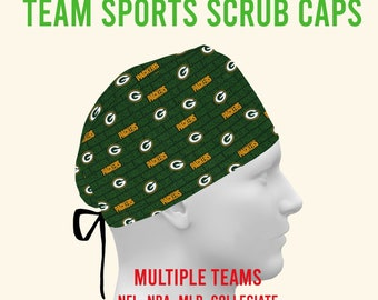 Green Bay Packers Fitted Pixie Scrub Cap Surgical Hat  OR ERSurgeon Respiratory Technician Veterinarian Dental By Scrub Caps Canada