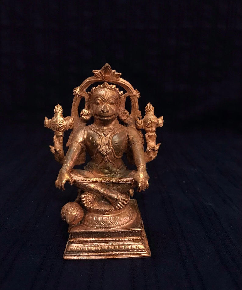 Yoga Hanuman copper Idol