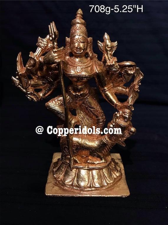Copper Idol Of Mahishasura Mardini Durga Devi Maa Etsy