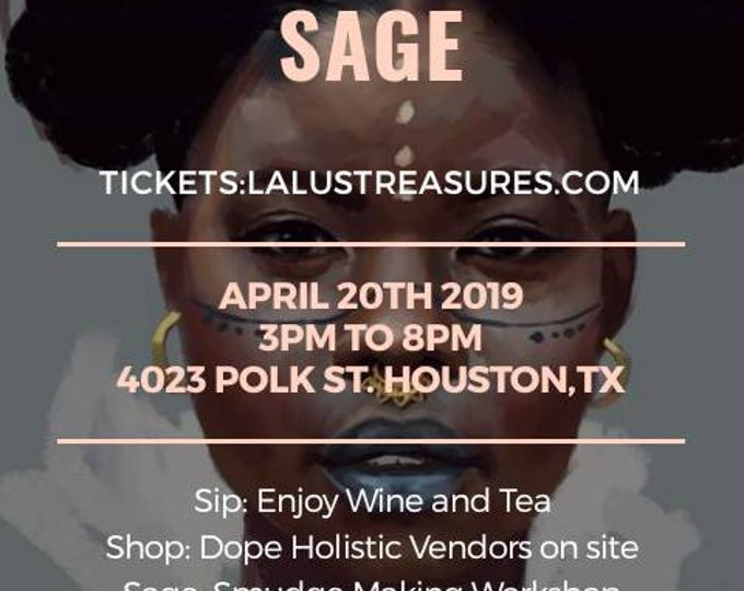 Featured listing image: Sip, Shop and Sage Black Holistic Vendor's Fair  in Houston Texas