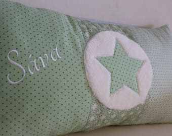 Cushions with star application and name personalized