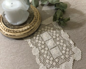 Vintage Embroidered Lace Doilie