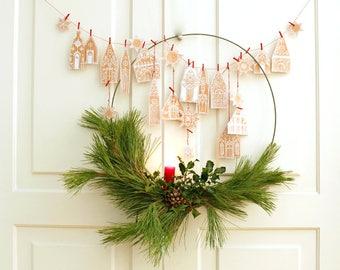 DIY christmas garland - festive - christmas garland - printable