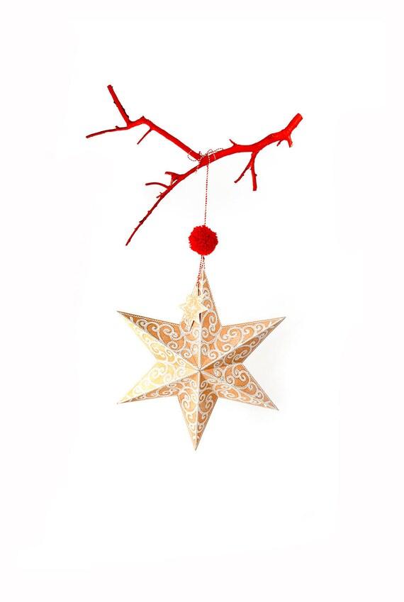 photo regarding Christmas Star Printable titled xmas star ornament - down load - xmas star - printable