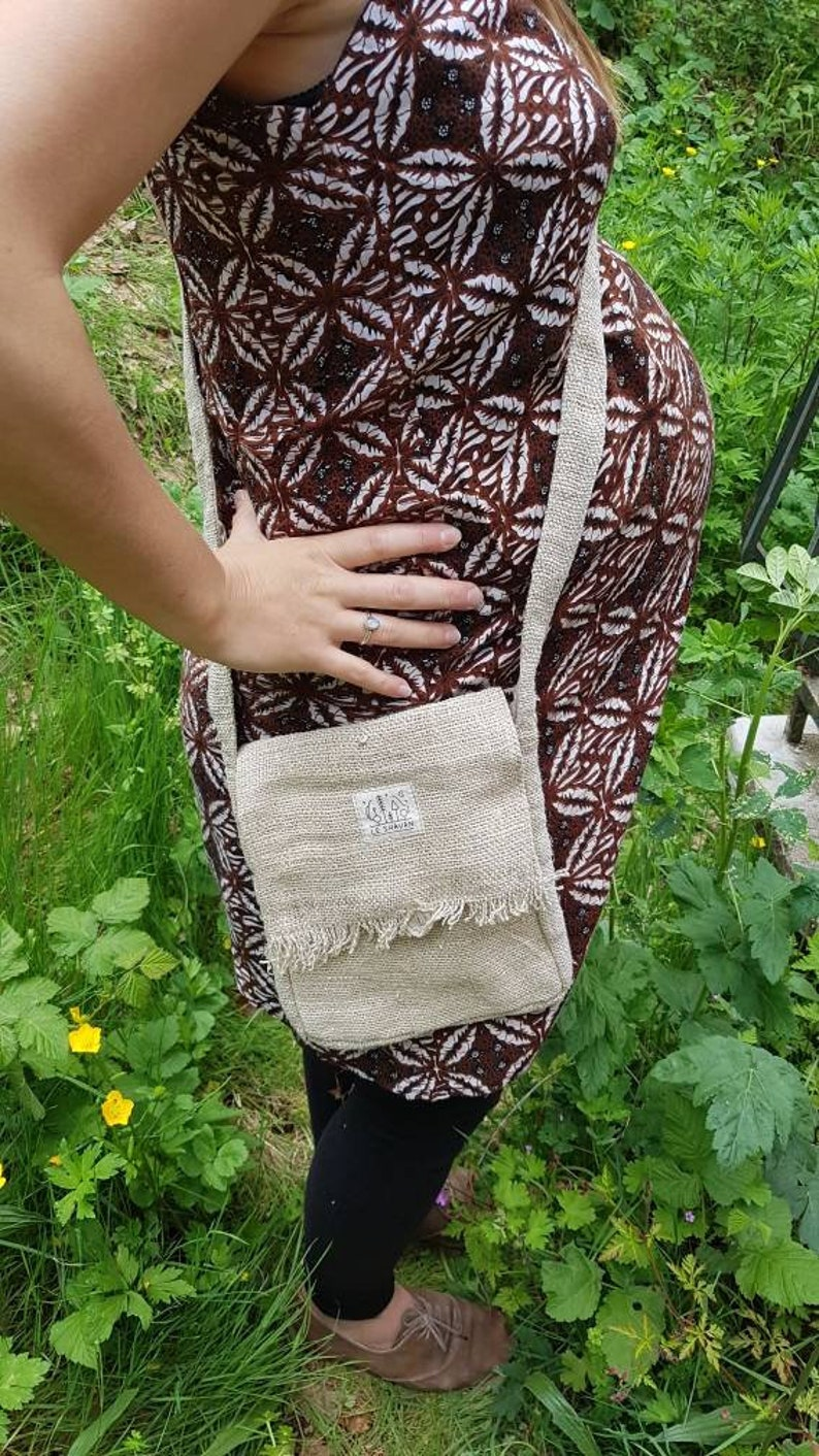 LeShavan organic hemp Crossbody bag