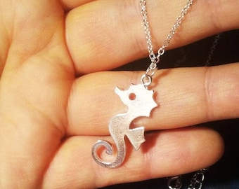 silver seahorse necklace - seahorse jewelry - baby seahorses pendant - seahorse necklace gold - seahorse charm ocean necklace ocean jewelry