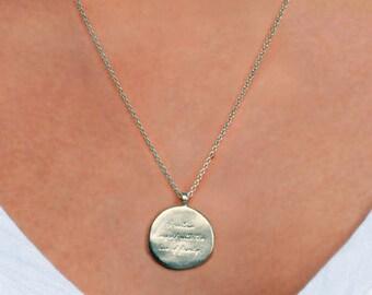 Engraved pendant etsy gold engraved pendant engraved necklace in gold massage pendant inscribe pendant graver pendentif grav colgante grabado regalo aloadofball Choice Image