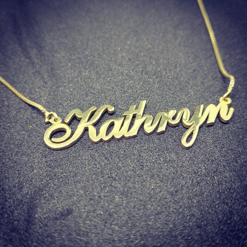211cfc65ab241 real gold name necklace - custom gold name necklace - gold necklace with  name in cursive - 14k gold name necklace - solid gold name necklace