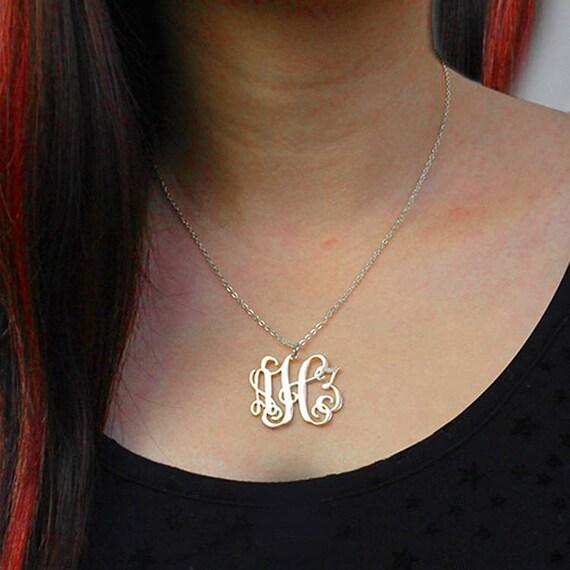 d8a77297d Monogram necklace for kids monogram necklace rose gold   Etsy