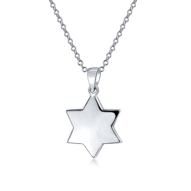 45d442206524 925 Sterling Silver Magen David necklace Jewish Star Pendant with necklace  women... 925 Sterling Silver Magen David necklace Jewish Star Pendant with  ...