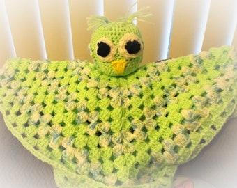 Crochet granny square owl lovey