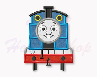 Tank Engine Machine Embroidery Design, Blue Train applique embroidery design, Embroidery design baby, Instant Download #012