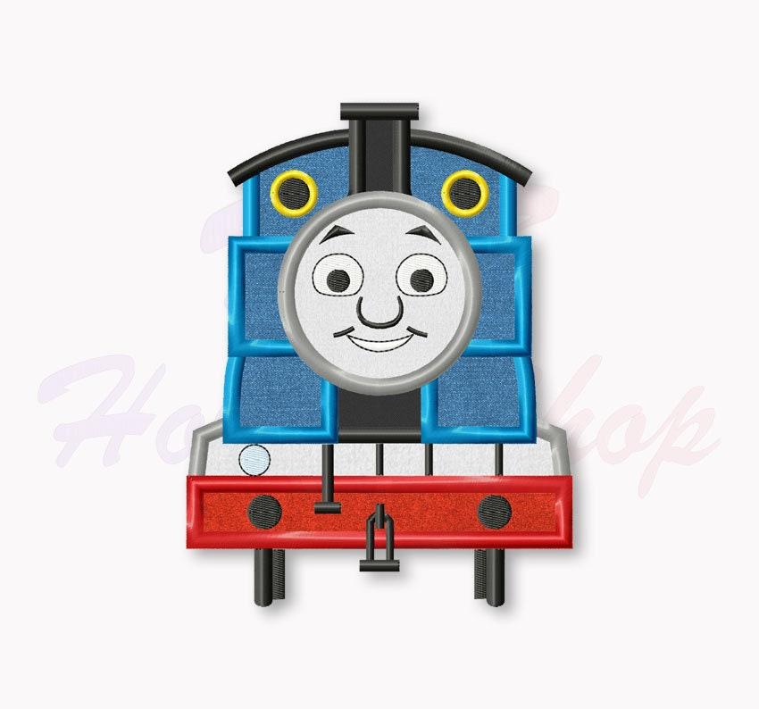 Tank Engine Machine Embroidery Design Blue Train Applique Etsy