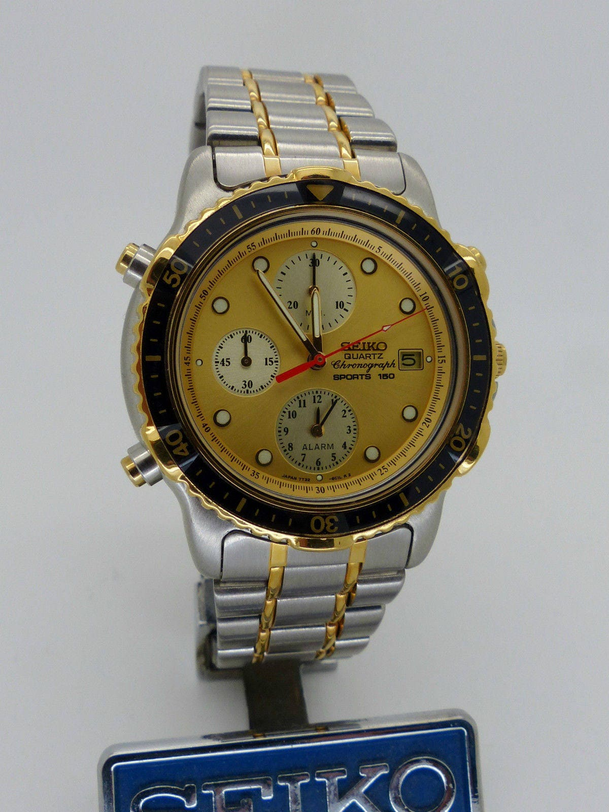 seiko 7t32 6b9c alarm chronograph new old stock ref etsy rh etsy com seiko 7t42 instructions