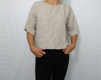 Grey Linen Shirt Etsy