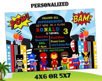 Super Hero Invitation Superhero Templates Birthday Party Invitations