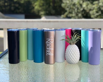 Custom tumbler with straw, CLEARANCE, bridal party personalized tumblers, insulated tumbler with name, monogram tumbler