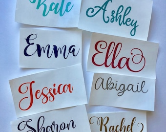 Name decal, vinyl decal, personalized decal, custom decal, phone decal, tumbler decal, yeti decal, laptop decal, clipboard decal, gift idea