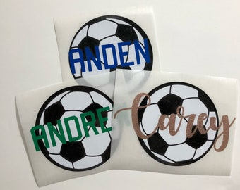 Soccer decal, kids decal, name decal, water bottle decal , tumbler decal, sports sticker