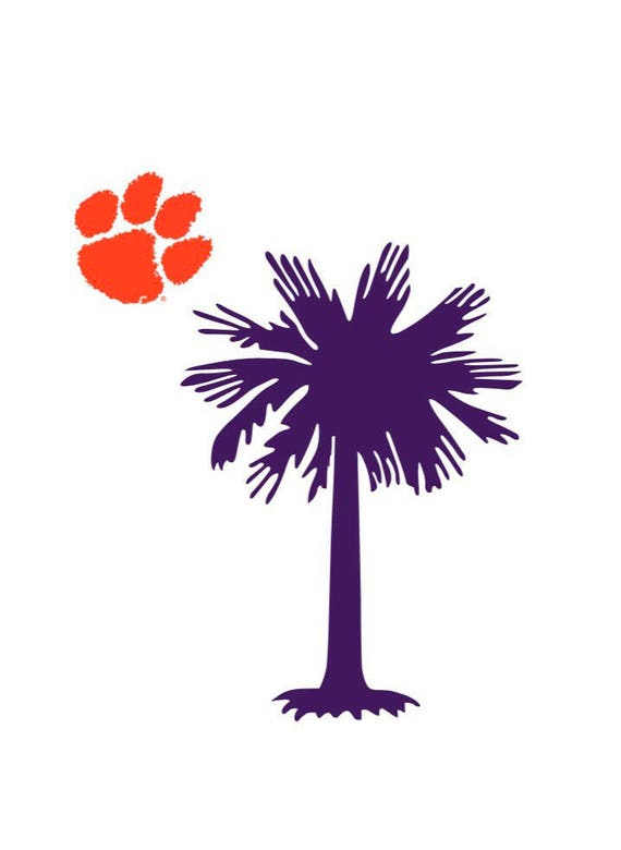 Clemson Decal Sc Decal Car Decal Clipboard Decal Laptop Etsy
