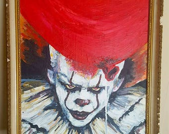 IT (2017) Painting - Framed Original Artwork