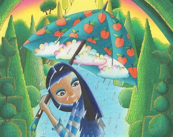 Rain Rain Go Away High-quality A4 Print