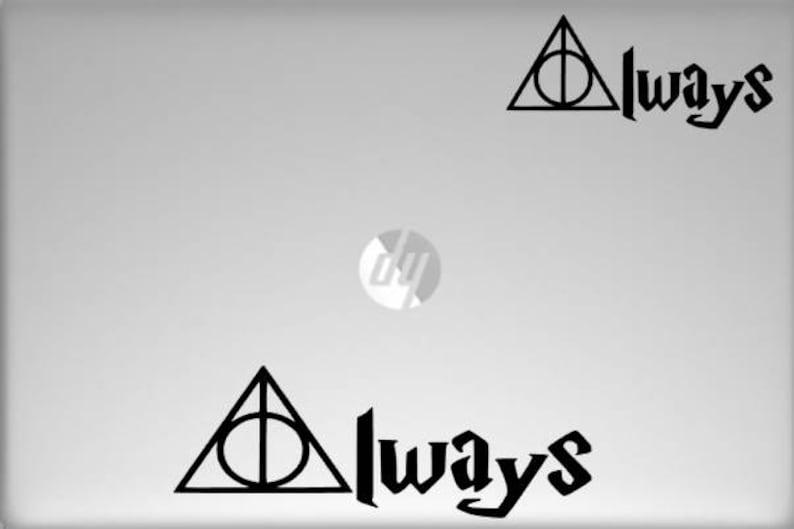 Harry Potter Vinyl Decal Laptop Decal Bumper Sticker Window Deathly Hallows