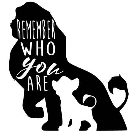 Lion King Mufasa Amp Simba Vinyl Decal Stickers Remember Who