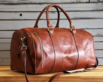 Large Leather Travel Bag 1428a8ea2ba10