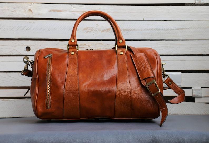 Leather Travel BagLeather Duffel BagWeekender bagDuffel  47861e51baf80