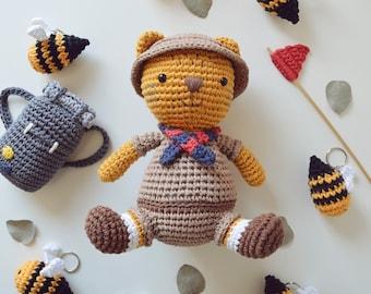 PATTERN: Leopoldo, the Tiger Scout Amigurumi Crochet