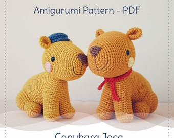 Capybara Joca Crochet Pattern (Amigurumi tutorial PDF file)