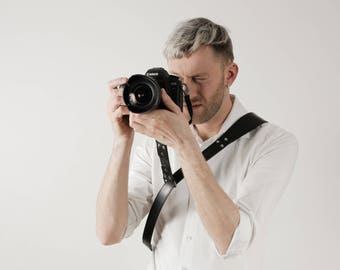 Camera Sling Strap, Leather Camera Strap, Leather Sling Strap, Gift For Photographer, Leather Camera Sling, Sling Strap, Black Sling Camera