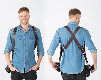 Camera Harness, Dual Cameras Strap, Two Cameras Harness, Photographer Harness, Cameras Harness, Cameras Straps, Photographer Straps