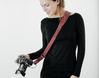 Leather Camera Strap, Camera Strap, Camera Sling Strap, Gift For Photographer, Leather Camera Sling, Sling Strap, Single Camera Sling