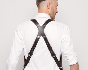 Leather Camera Harness, Dual Cameras Strap, Two Cameras Harness, Photographer Harness, DSLR Harness, Dual DSLR Strap, Photographer Straps