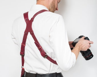 Two Cameras Strap, Dual Cameras Strap, Gift For Photographer, Two Cameras Harness, Cameras Harness, Cameras Straps, Photographer Straps,