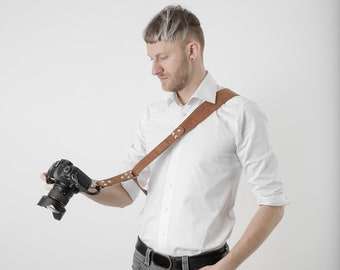 Camera Crossbody Strap, Leather Camera Strap, Leather Strap, Camera Strap Leather, Kameragurt, Camera Sling Strap, Camera Sling