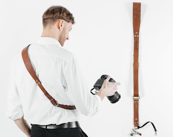 Leather Camera Strap, Panasonic Strap for Camera, Leather Sling Strap, Gift For Photographer, Leather Film Sling, Sling Strap, Camera Strap